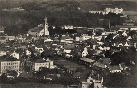 Ak Jeseník Freiwaldau Reg. Olmütz, Totalansicht der Ortschaft