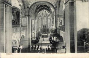Ak Soest in Nordrhein Westfalen, Das Innere der Petri Kirche