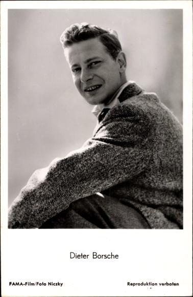 Ak Schauspieler Dieter Borsche, Portrait, Sakko, Kragen