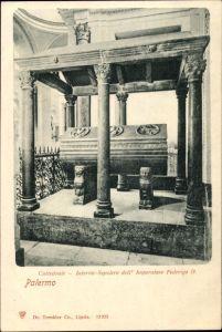 Ak Palermo, Blick in die Kathedrale, Cattedrale Interno Sepolcro dell'Imperatore Federigo II