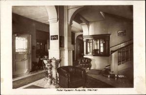 Ak Weimar in Thüringen, Hotel Kaiserin Augusta, Vestibül, Innenansicht