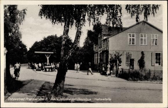 Ak Prerow Darß Ostsee Blick auf Ferienheim Haus Regina