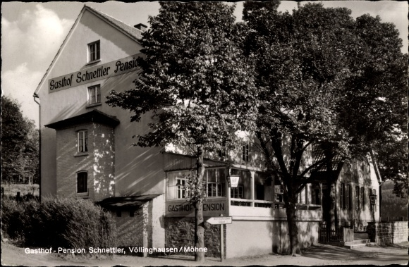 ak v llinghausen m hnesee im kreis soest nordrhein westfalen gasthof pension schnettler. Black Bedroom Furniture Sets. Home Design Ideas