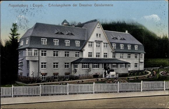Ak Augustusburg im Erzgebirge, Erholungsheim der Dresdner Gendarmerie