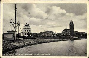 Ak Cuxhaven in Niedersachsen, Signalstation, Leuchtturm