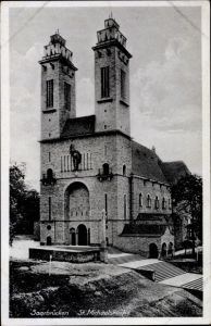 Ak Saarbrücken im Saarland, Blick auf St. Michaeliskirche