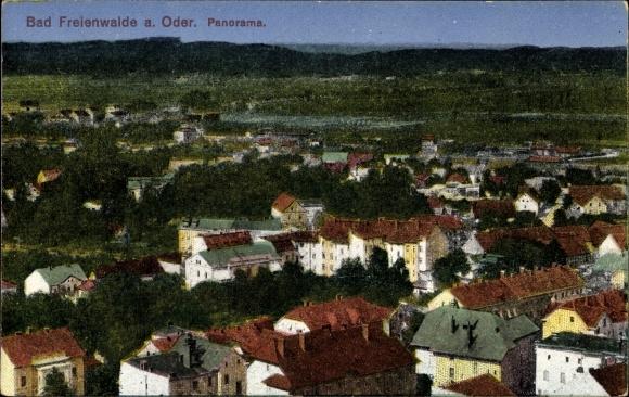Ak Bad Freienwalde an der Oder, Blick über die Dächer über das Land