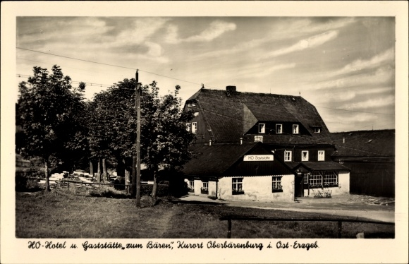 Ak Oberbärenburg Altenberg im Osterzgebirge, HO Hotel Gaststätte zum Bären