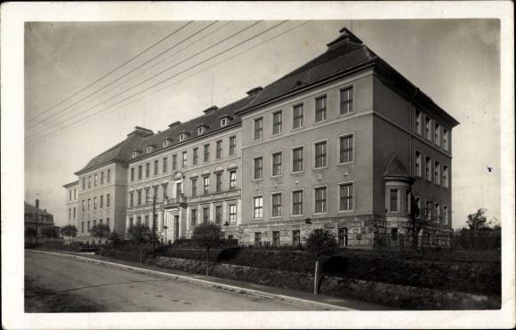 Ak Nová Paka Neupaka Reg. Königgrätz, Statni realne gymnasium, Real Gymnasium