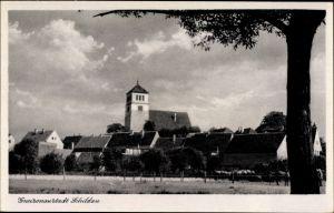 Ak Belgern Schildau Nordsachsen, Blick auf die Kirche, Gneisenaustadt