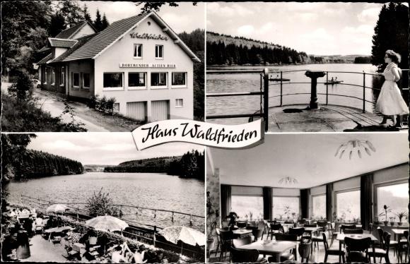 Ak Marienheide in Nordrhein Westfalen, Haus Waldfrieden, Terrasse, Inh. Karl Drux