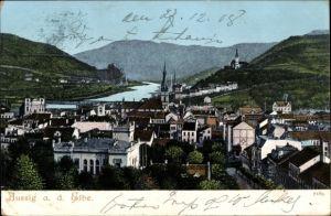 Ak Ústí nad Labem Aussig Elbe Stadt, Teilansicht der Ortschaft
