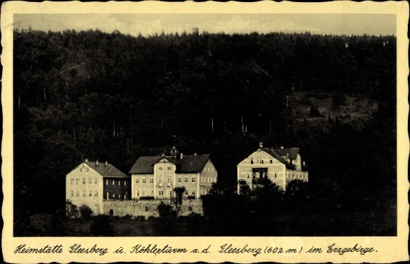 Ak Schneeberg im Erzgebirge, Ansicht der Heimstätte Gleesberg und Köhlerturm