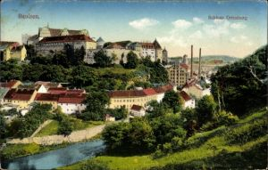 Ak Bautzen in der Lausitz, Blick zum Schloss Ortenburg