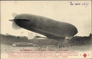 Ak Sports d'Aviation, Dirigéable Patrie, L'Atterrissage, Französisches Luftschiff