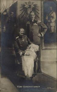 Künstler Ak Kaiser Wilhelm II., Kronprinz Wilhelm von Preußen, Enkel, RPH 5429