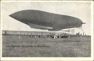 Ak Les Sports d'aviation, Dirigéable La République, Französisches Luftschiff