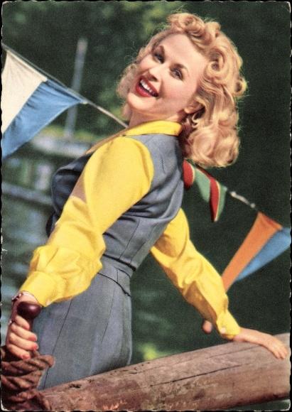 Ak Schauspielerin Bibi Johns, Portrait, Blondine