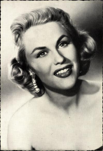 Ak Schauspielerin Bibi Johns, Portrait, Blondine, Ohrring