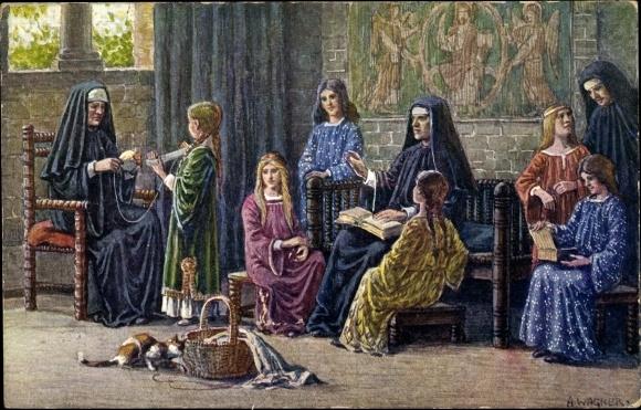 Künstler Ak Wagner, A., Kassel, Tausendjahrfeier 1913, Nonnen des Augustinerklosters zum Ahnaberge