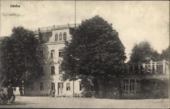 Ak Särka Weißenberg in der Oberlausitz, Blick auf eine Villa