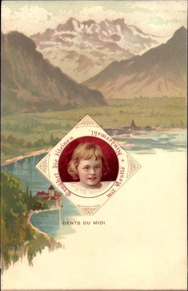 Litho Dents du Midi, Ernährt die Kleinen mit Néstle Kindermehl