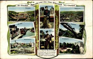 Ak Elberfeld Wuppertal in Nordrhein Westfalen, Zuckerfritz, August Kallenbach, Schwebebahn
