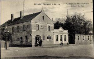 Ak Zöbigker Gautzsch Markkleeberg in Sachsen, Gasthof Zur Friedenseiche, Bes. Max Illge