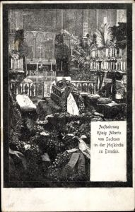 Ak Dresden, Aufbahrung König Albert I. von Sachsen, Hofkirche