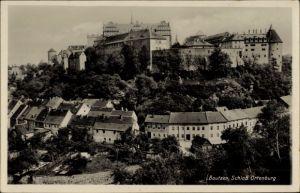 Ak Bautzen in der Lausitz, Blick zum Schloss Ortenburg und über den Ort