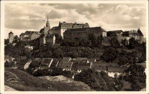 Ak Bautzen in der Lausitz, Blick vom Proitschenberg zum Schloss und über den Ort