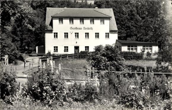 Ak Hellendorf Bad Gottleuba in Sachsen, Blick zum Gasthaus Keckritz, Bahratal