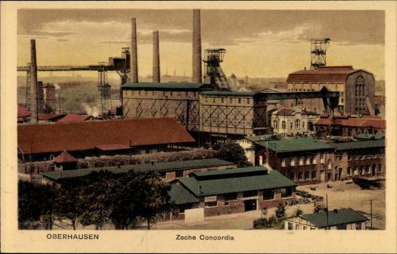 Ak Oberhausen im Ruhrgebiet, Blick auf Zeche Concordia