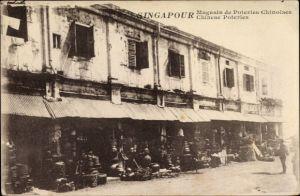 Ak Singapur, Magasin de poteries chinoises, Chinese Poteries, Chinesische Töpferwaren