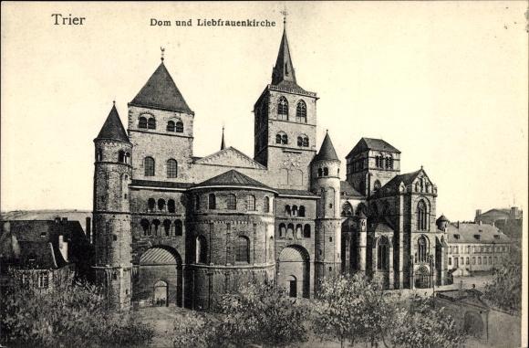 Ak Trier in Rheinland Pfalz, Dom und Liebfrauenkirche