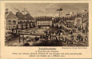 Künstler Ak Szklarska Poręba Schreiberhau Riesengebirge,Josephinenhütte,Friedrich Wilhelm IV,6. Okt