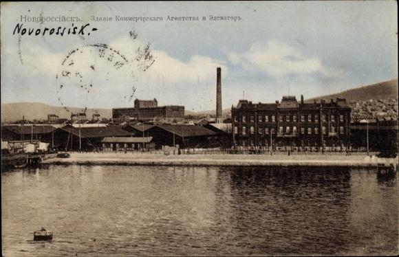 Ak Noworossijsk Russland, Gewerbegrundstücke und Aufzug, Zdaniye kommercheskogo agentstva i elevator