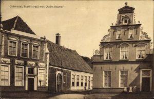 Ak Oldenzaal Overijssel Niederlande, Marktstraat met Oudheidkamer, Marktstraße mit Heimatmuseum