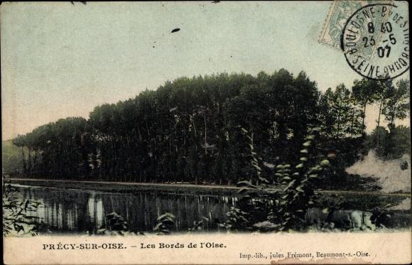 Ak Précy sur Oise Frankreich, Les Bords de L'Oise