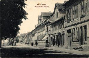 Ak Groß Gerau in Hessen, Darmstädter Straße, Gasthaus zum Löwen, Geschäft Heinrich Runkel
