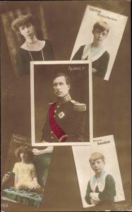 Ak König Albert I. von Belgien, Königin Elisabeth Gabriele von Belgien, Marie Jose, Baudoin, Leopold