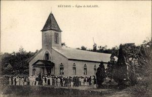 Ak Salazie Réunion, Église, Ansicht der Kirche