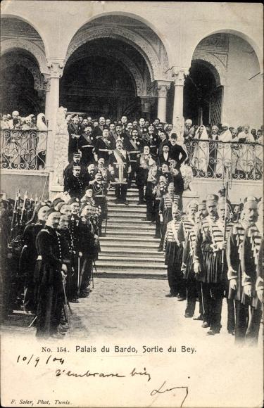 Ak Tunis Tunesien, Tunesischer Bey Ahmad II of Tunis, Sortie du Bey
