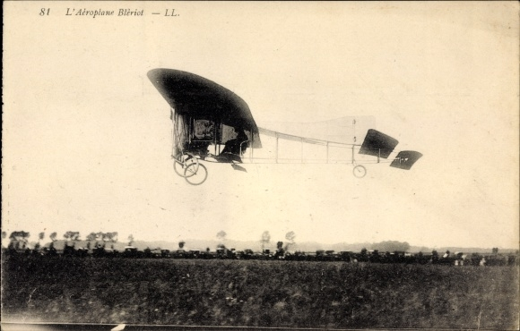 Ak L'Aeroplane Blèriot, Flugzeug über einem Feld, Levy & Fils