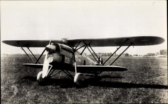 Ak Italienisches Kampfflugzeug, Fiat CR 32, Jagdflugzeug, Doppeldecker