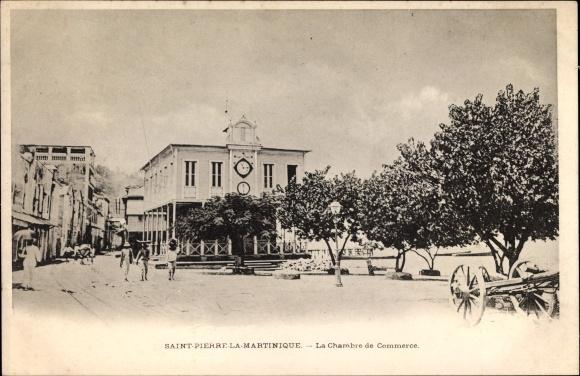 Ak Saint Pierre Martinique, La Chambre de Commerce