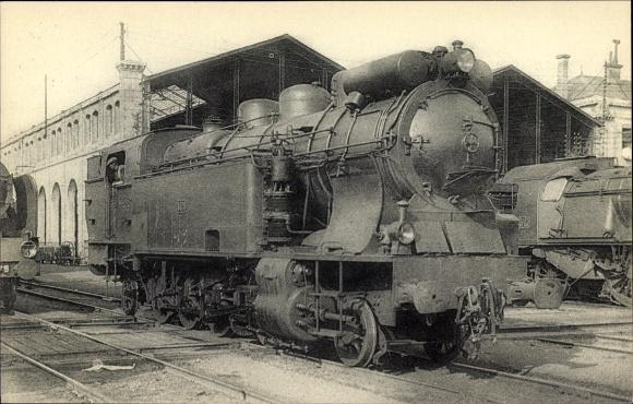 Ak Französische Eisenbahn, Locomotives du PO, Machine tender No. 5476