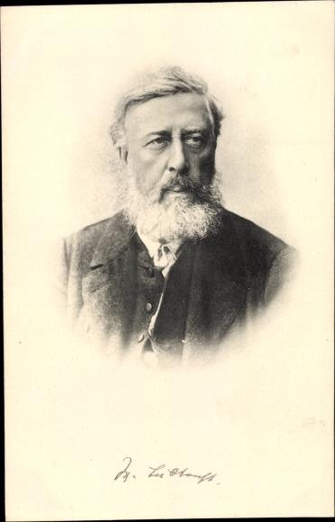 Ak Wilhelm Liebknecht, Gründervater der SPD, Kommunist, Sozialist, Portrait