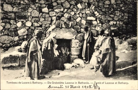 Ak Bethanien Palästina, Tomb of Lazarus, Die Grabstätte des Lazarus