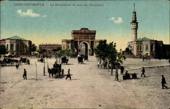 Ak Konstantinopel Istanbul Türkei, Le Seraskerat et tour de Stamboul